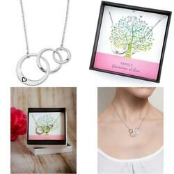 Generations Necklace For Grandma Gifts - Sterling Silver Mom Granddaughter Grand