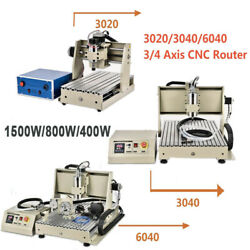 Usb/parallel 3/4 Axis Cnc 6090/6040/3040 Router Engraver Machine Drill Mill Uk