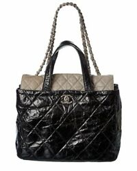 Black Quilted Leather In The Mix Tote Womenand039s