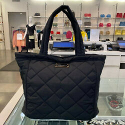 NWT RETAIL $200 MARC JACOBS Quilted Nylon Tote BLACK LARGE