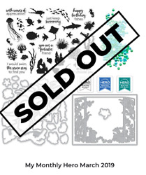 New Hero Arts My Monthly Hero Kit Sold Out March 2019 Aquarium Theme