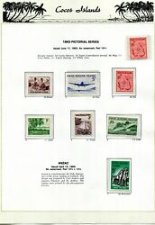 Two Complete Cocos Island 1963-2000 Stamp Collections 1st Mnh The 2nd Used/cto