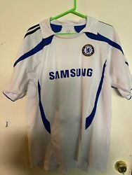 Rare Chelsea Football Club White Soccer Jersey Shirt And Matching Shorts Xl 7