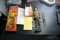 Action Man Palitoy Gi Joe 1973  Gripping Hands Soldier 3 Figure Boxed