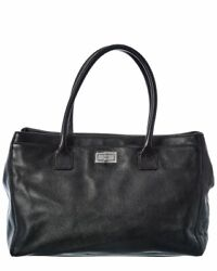 Black Calfskin Leather Cerf Tote Womenand039s