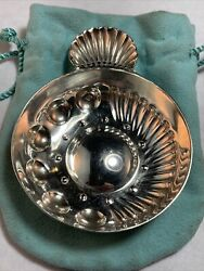 Sterling Silver Wine Taster France With Pouch Shell Handle