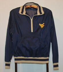 Vintage 1980's Logo 7 University Of West Virginia Pullover Jacket Size Small
