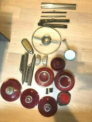 1940s Ford/lincoln Car Parts, 19 Items In Lot, Vintage, Headlights, Signals +
