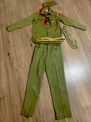 Vintage 1960's Boy Scouts Of America Uniform Collectible Bakelite Solid Brass