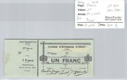 Northern - Iwuy 1 Franc 16.1.1916 1andegravere Series Pirot 59.1416