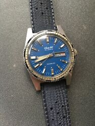 Vintage Swiss 100 25j Automatic Incabloc Daydate Skin Diver Type Watch Free Ship