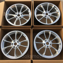 20 New Hyper Silver Style Forged Wheels Rims Fit Porsche 911 Gt3 20x8.5 20x11.5