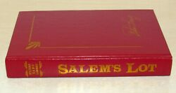 Salemand039s Lot Stephen King Library Edition 1975 Red Leather Bound Hc
