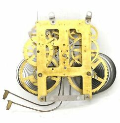 Ingraham Wall Clock Movement 8 Day Time And Strike Parts Or Repair - Gg817