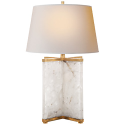 Cameron 28 Table Lamp In Natural Quartz With A Natural Paper Shade