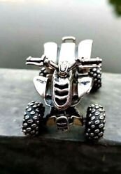 New Atv 925 Sterling Silver Classic Collectible Motorcycle Model Realistic