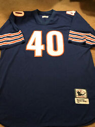 Throwback Gale Sayers 40 Nostalgia Co. Chicago Bears Jersey Size 56