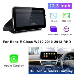 Car Gps Navigation 12.3 Stereo Android For Mercedes Benz E Class 2010-2013 Rhd