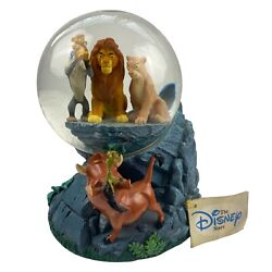 Vintage Disney Lion King Snow Globe Circle Of Life Musical With Tags Retired