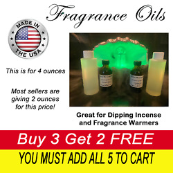 4 Oz Fragrance Oils Great For Aromatherapy Oils - Diffusers Essential Incense