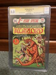 1st Issue Special 8 Signed By Mike Grell First Appearance Of Warlord Cgc 8.0