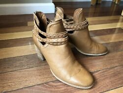 FRYE Women's Brown Leather Strappy Ankle Boots Size 8 B $49.00