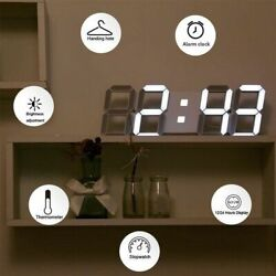 Large LED Digital Wall Clock Remote Control w Countdown Timer Temperature Date
