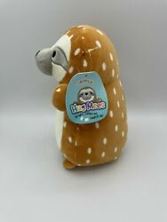 Squishmallow 10 Hug Mee Kandace 3d Standing Spotted Sloth Soft Nwt