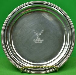 Ball, Black And Co 19thc Silver Platter W/ Stag Head Engraving