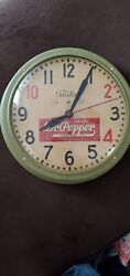 Vintage Dr Pepper Clock Telechron Antique Pop Advertising Free Shipping Works