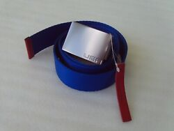 Rlx Belt Adjustable Royal Blue Woven Tour Style Golf And Usa Buckle