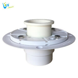Shower Drain Base With Adjustable Ring For 2 Outlet Linear Installation Pvc