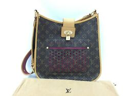 Auth Louis Vuitton Monogram Perforated Musette Purple Limited Edition 1e100030n