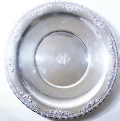 Large Wallace Andldquonormandieandrdquo Sterling Silver Serving Tray Dish 715 Grams 13 3/8andrdquo
