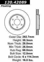 For Nissan Frontier Suzuki Equator Front Disc Brake Rotor Centric Parts
