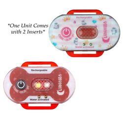 Lunasea Child/pet Safety Water Activated Strobe Light - Red Case Blue Attent...