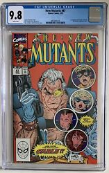 1990 New Mutants 87 1st Appearance Cable Cgc 9.8 White Pages