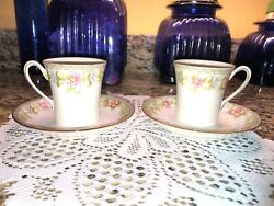 2 Vintage Noritake Nippon Flamengo Cup And Saucer Sets