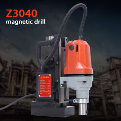 1100w Md-40 Electric Magnetic Drill Press 1.5 Boring And 2700 Lbs Magnet Force