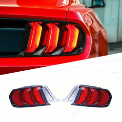 For Ford-mustang 2015-2019 Led Taillight Brake Trunk Light Dynamic Turn Signal