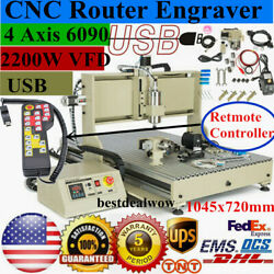 Usb Cnc6090 Router Engraver 4 Axis 2.2kw Spindle Engraving Machine + Controller