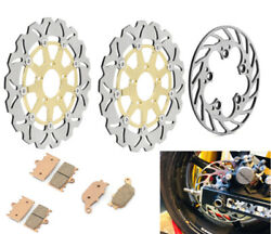 Front Rear Brake Discs Rotors Pads For Suzuki Sv1000 Naked Sv1000s Faired 03-07