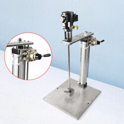 Auto Lifting 5 Gallon Pneumatic Mixer W/stand Stainless Steel Tank Barrel Paint