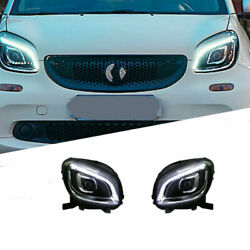 For Benz Smart 16-19 Led Daytime Running Lights Dynamic Signal Xenon Lo/hi Beam