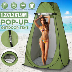 2 Windows Waterproof Camping Outdoor Privacy Shower Bathing Changing Cloth Tent
