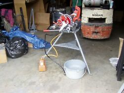 Ridgidandreg 300 Power Drive Pipe Threading Machine W/ Crrge And Stnd Reconditioned
