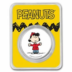 Peanuts Lucy Van Pelt 1 Oz Colorized Silver Round Tamper Evident Packaging