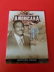 SATCHEL PAIGE GAME USED JERSEY CARD 2008 DONRUSS AMERICANA THREADS HALL OF FAME $119.95