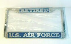 Mitchell Proffitt Company Retired Air Force Metal Auto License Plate Frame New