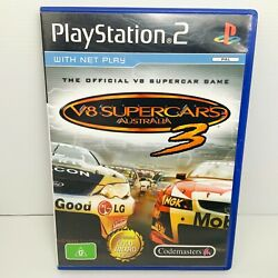V8 Supercars 3 + Manual - Ps2 - Tested And Working Free Postage